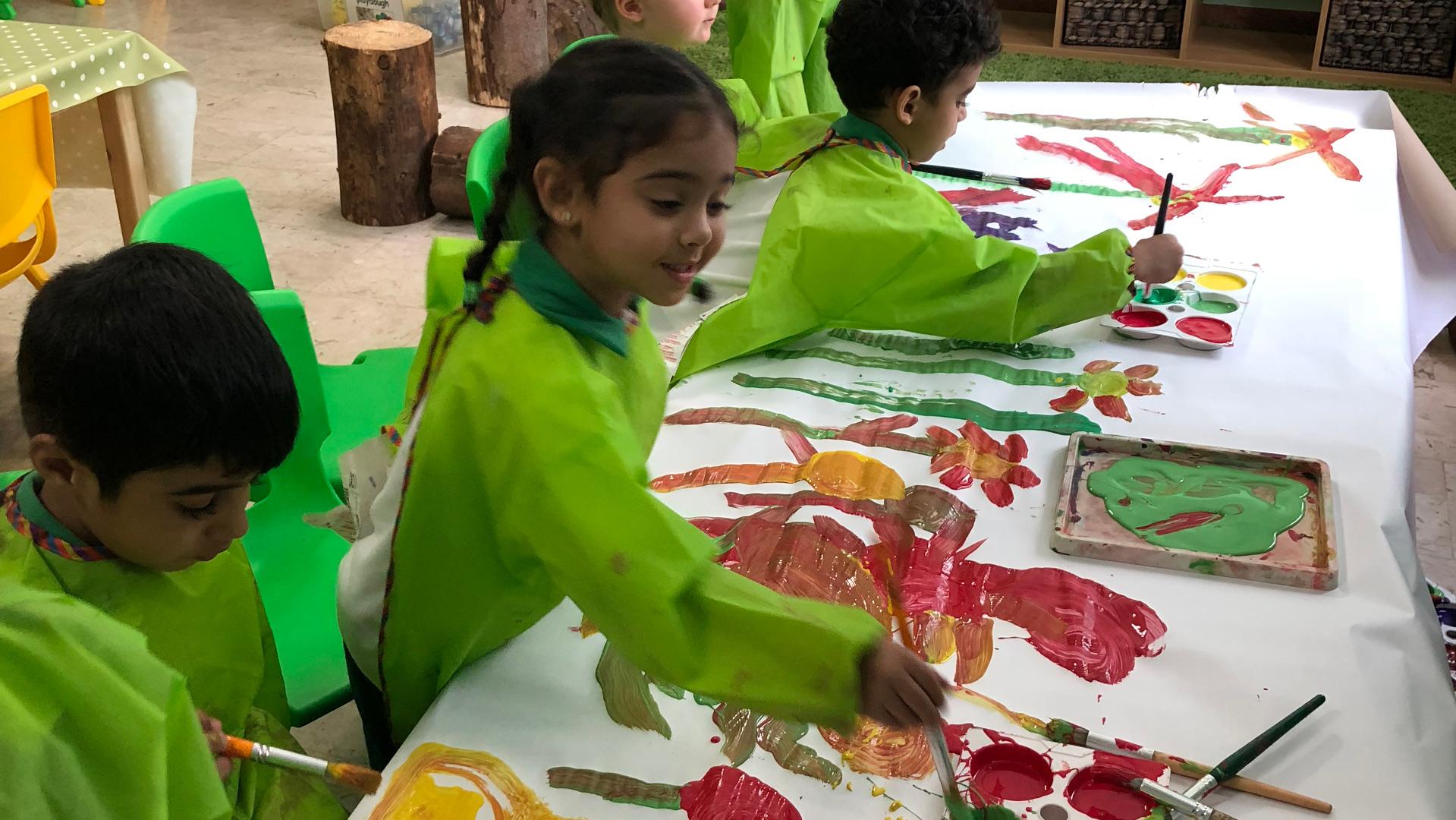 Chapter One Kindergarten Girl Painting